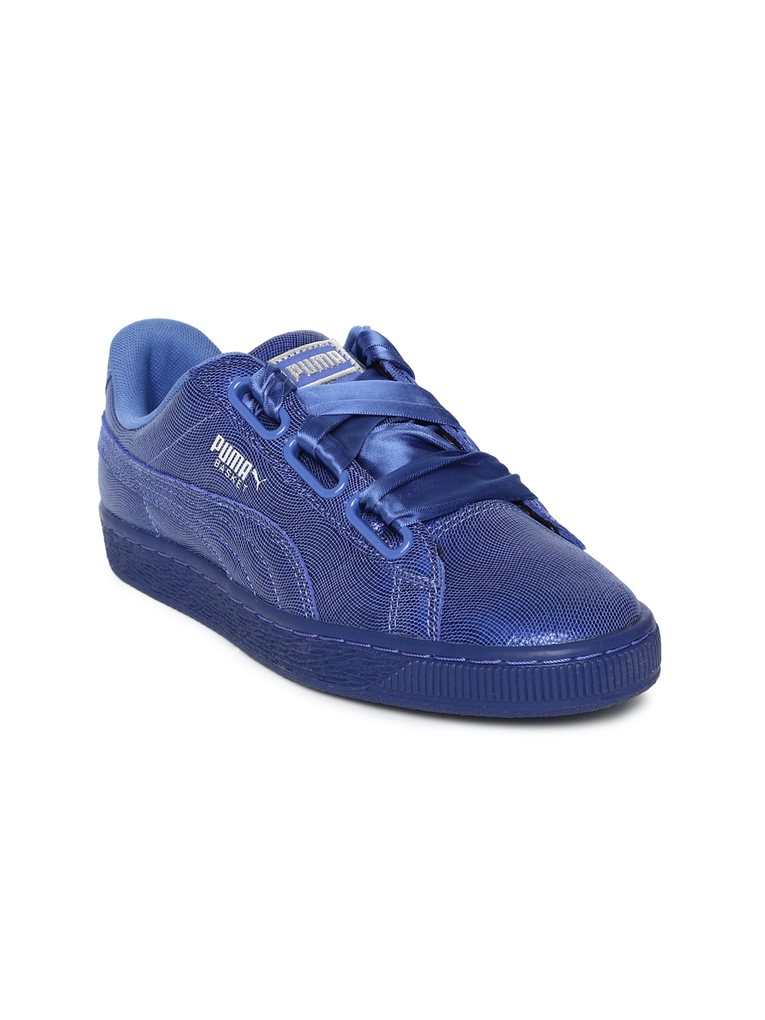 new style 765d3 9b1db Buy Puma Women Blue Basket Heart NS Sneakers - Casual Shoes ...