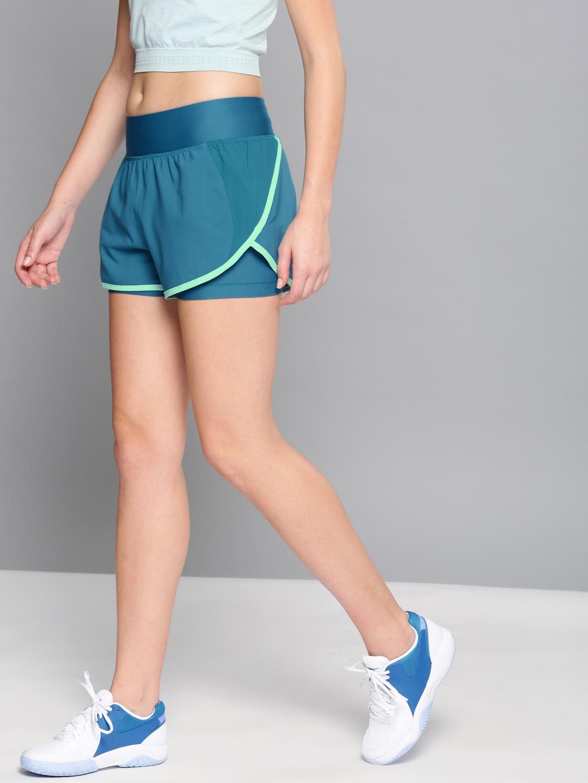 4211da865 Buy Under Armour Women Blue Launch Tulip 2 In 1 Sports Shorts ...