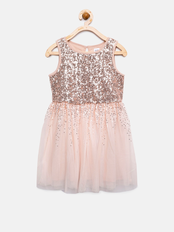 c3abb765193 Buy Gap Girls  Pink   Gold Toned Sequin Tulle Dress - Dresses for ...