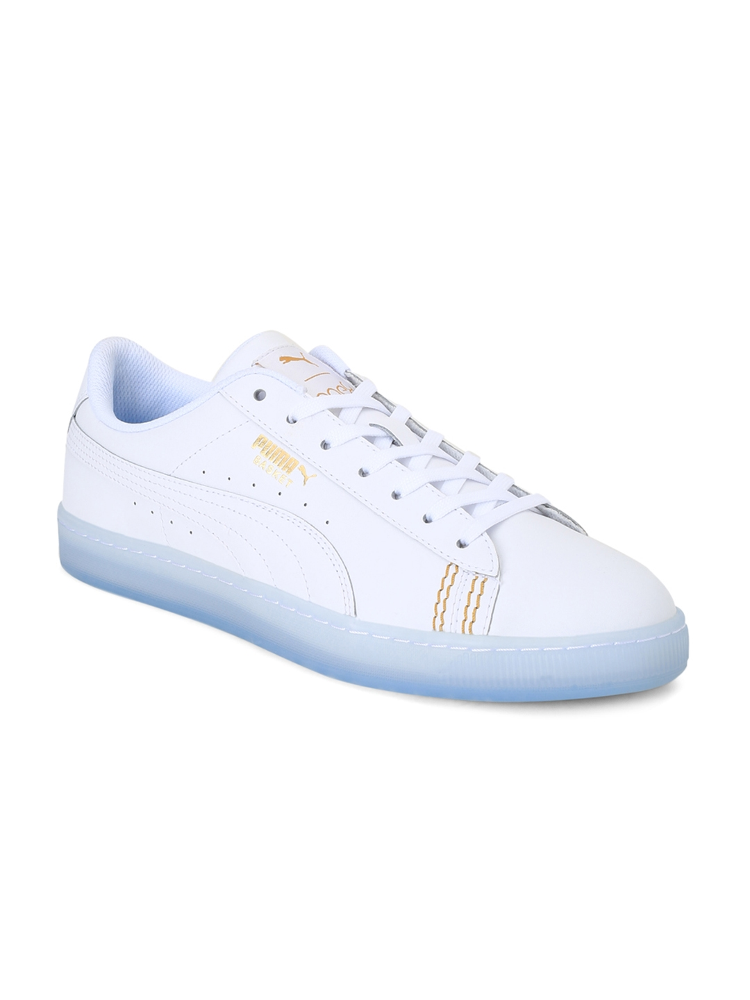 huge discount 70faf 0c919 Puma Unisex White One8 Basket Classic Sneakers