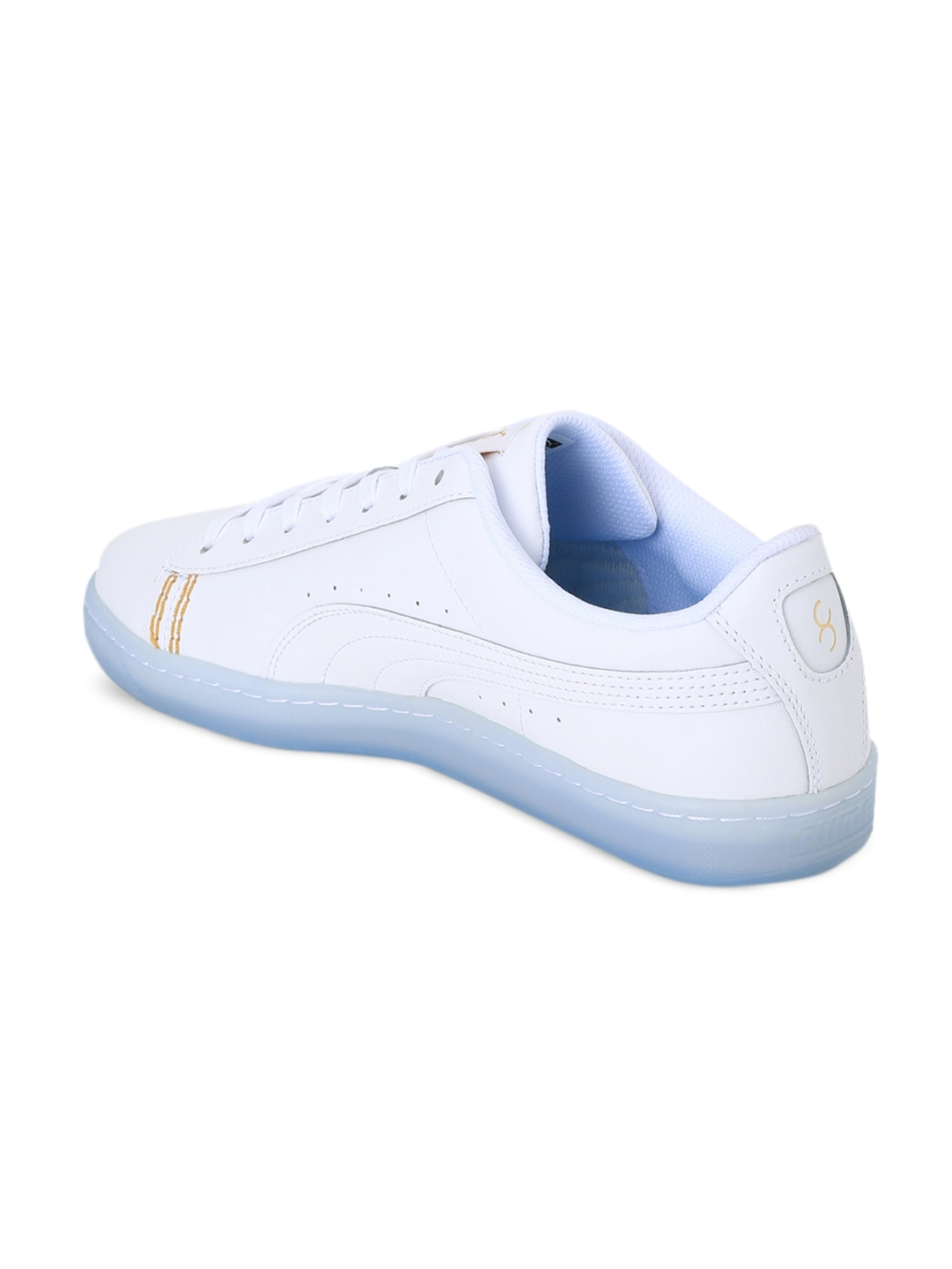 Buy Puma Unisex White One8 Basket Classic Sneakers - Casual Shoes ... e6db102f5