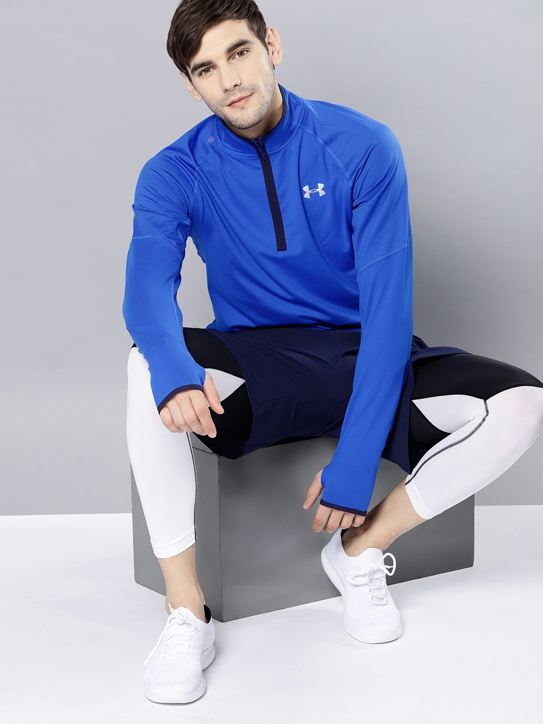 Individualidad muerto Hacer bien  Buy UNDER ARMOUR Men Blue Solid Threadborne Running T Shirt - Tshirts for  Men 7628046 | Myntra