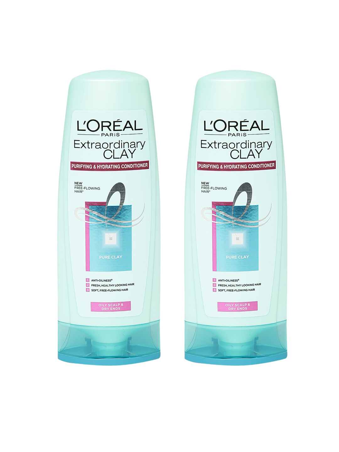 L'Oreal Paris Set of 2 Extraordinary Clay Purifying   Hydrating Conditioner 175 ml LOreal Shampoo and Conditioner