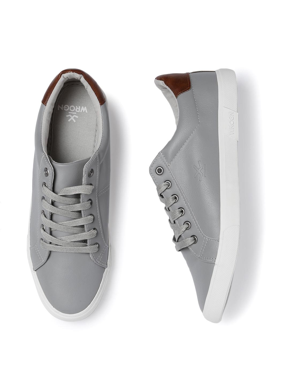 WROGN Men Grey Sneakers - Casual Shoes