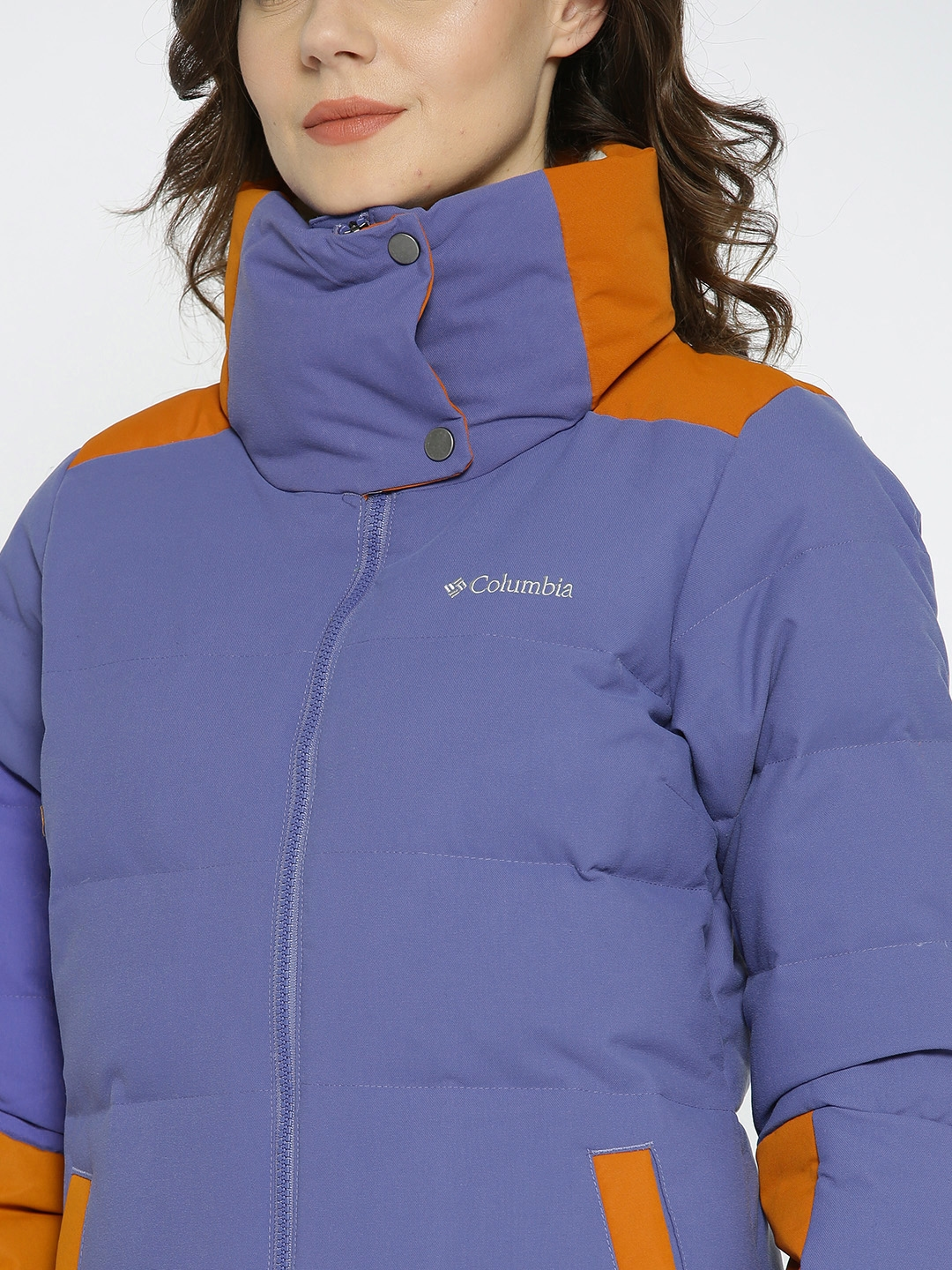 Buy Columbia Women Violet Solid Water Resistant Padded Jacket ... 310ea3916