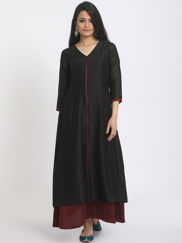 b796906461 Buy TrueBrowns Women Black Solid Maxi Dress - Dresses for Women ...