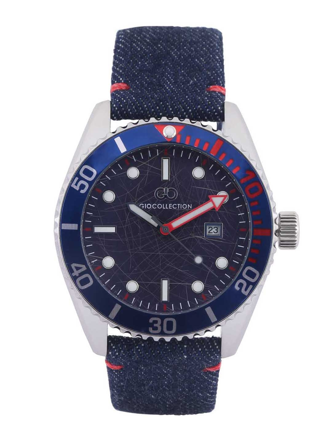 GIO COLLECTION Men Blue Analogue Watch