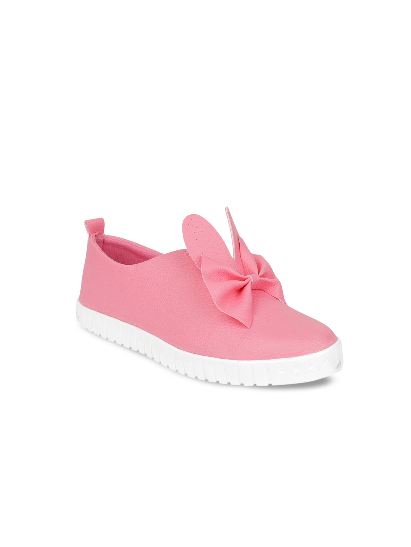 Shoetopia Women Pink Slip On Sneakers