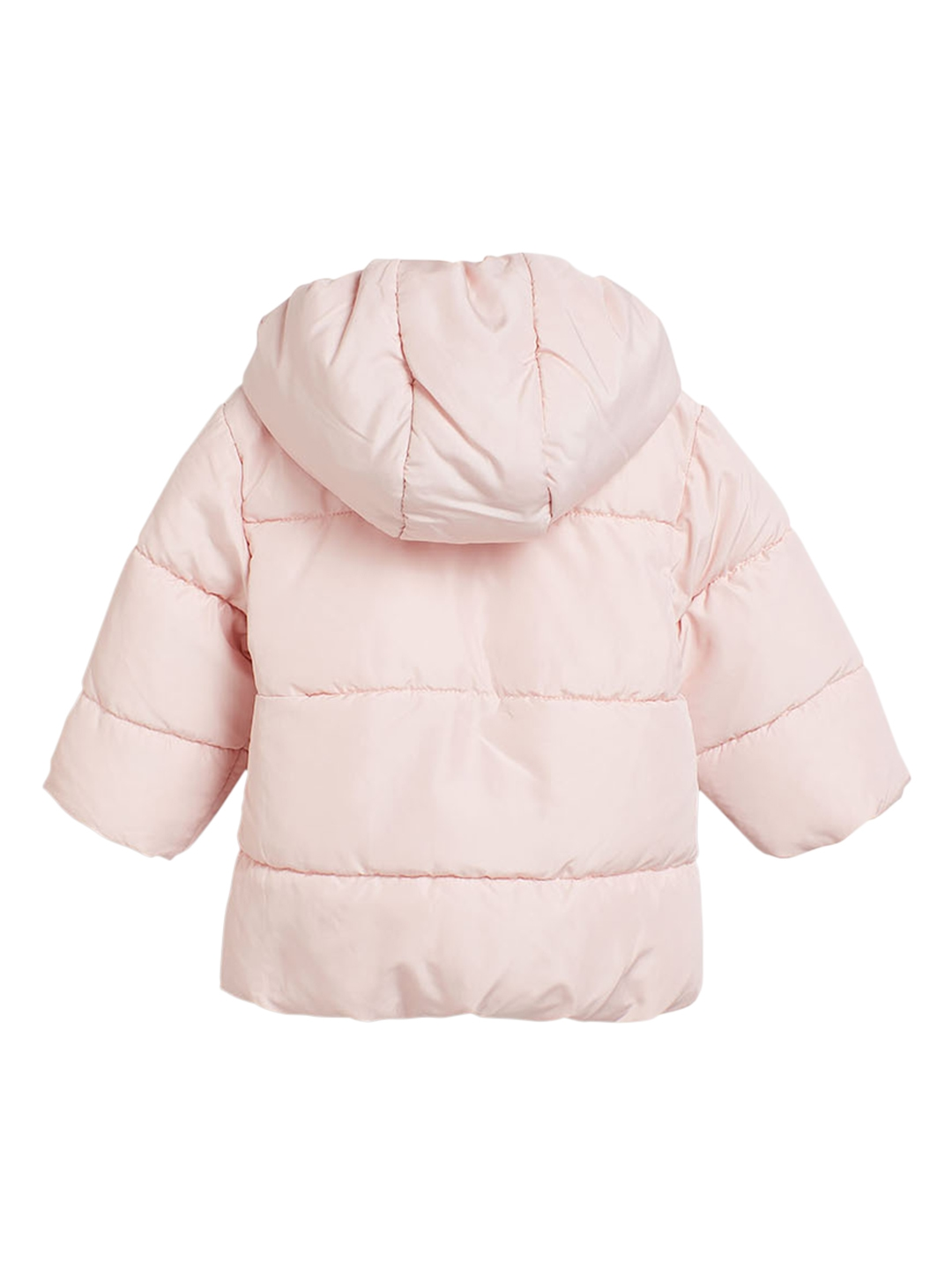 227a5b22f Buy Next Girls Pink Solid Hooded Puffer Jacket - Jackets for Girls ...