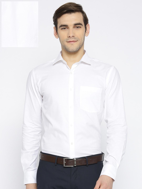 00fc1674 Buy Park Avenue Men White Slim Fit Solid Formal Shirt - Shirts for ...