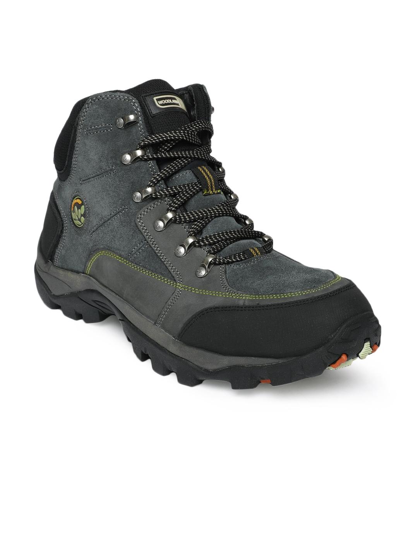 Buy Woodland Men Blue Hiking Boots