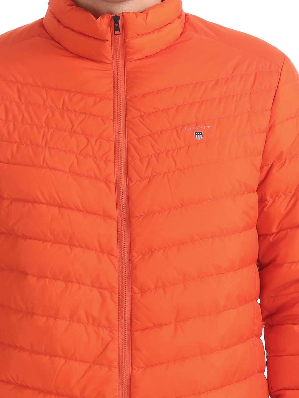 f63e2215d96a Buy GANT Men Orange Solid Lightweight Padded Jacket - Jackets for ...