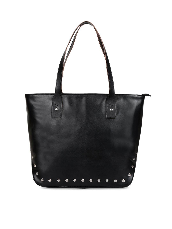 Anekaant Black Solid Shoulder Bag