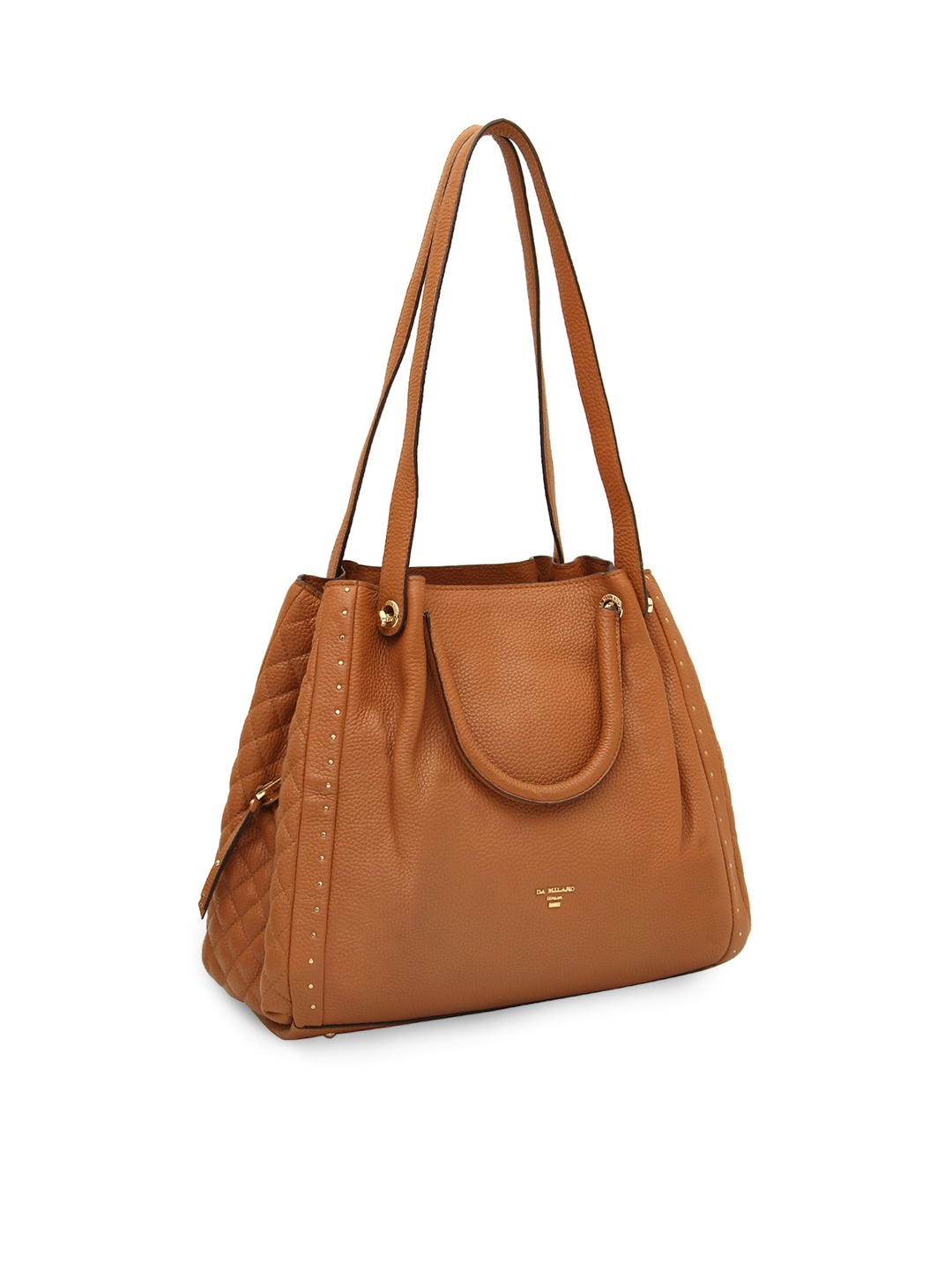 Buy Da Milano Brown Solid Leather Shoulder Bag - Handbags for Women ... f092f8b67a85b