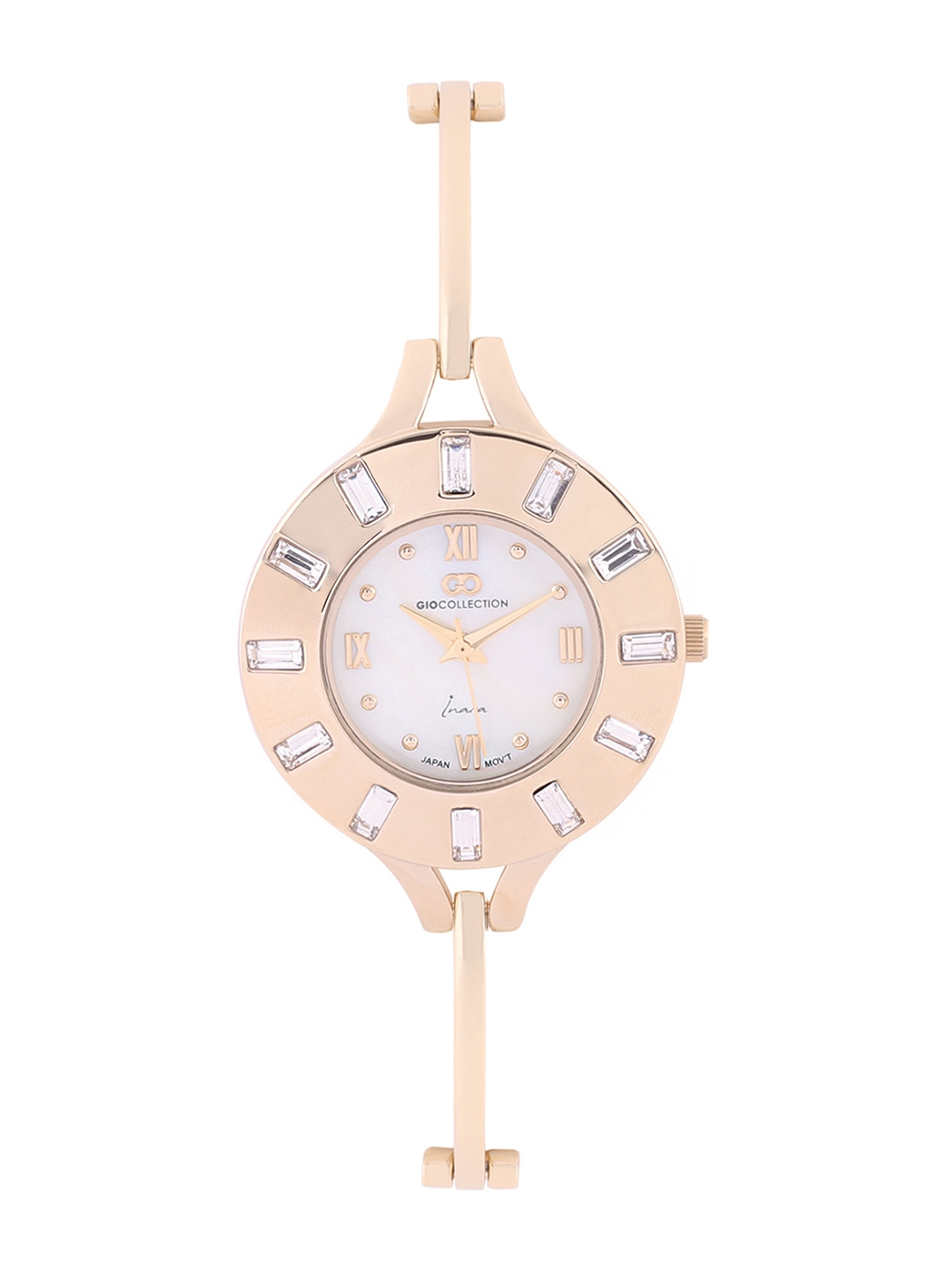 GIO COLLECTION Women Gold Toned Analogue Watch G2125