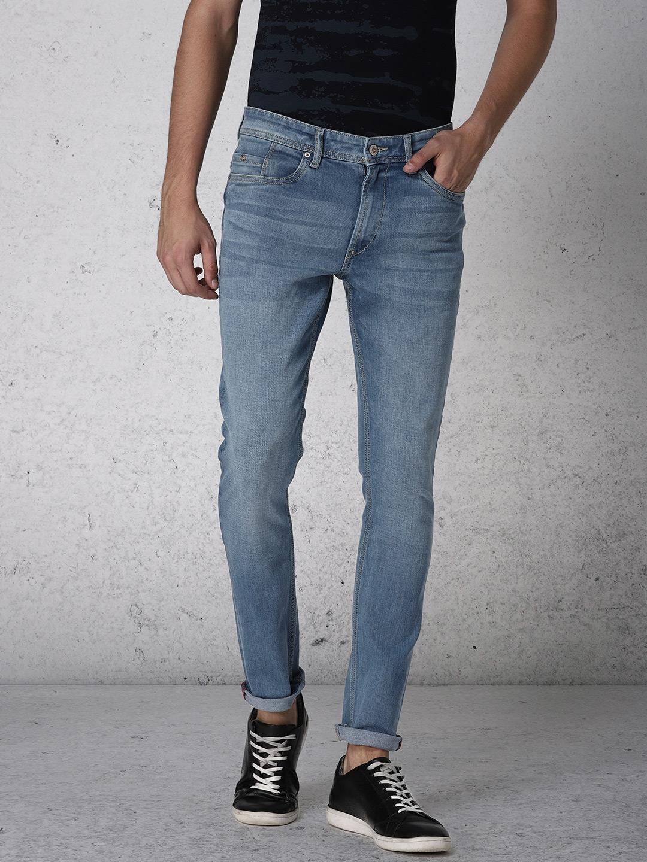 Ecko Unltd Men Light Blue Super Slim Fit Mid Rise Clean Look Stretchable Jeans