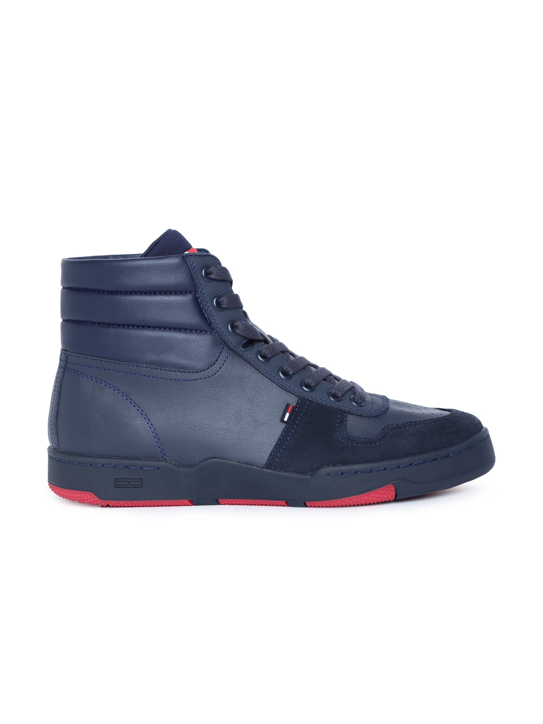 2f32bd8f8 Buy Tommy Hilfiger Men Navy Blue MID BASKET Mid Top Sneakers ...