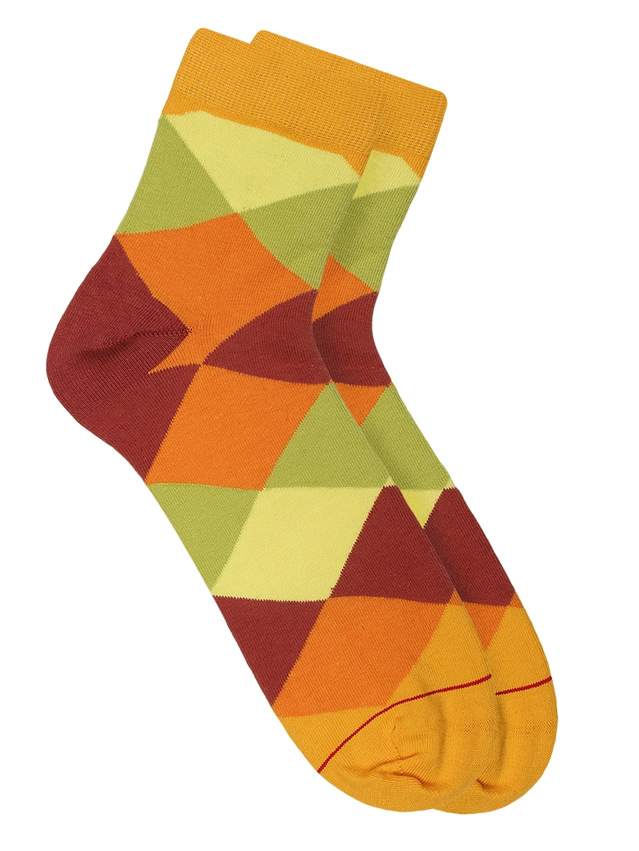 Soxytoes Men Multicoloured Checked Ankle Length Socks