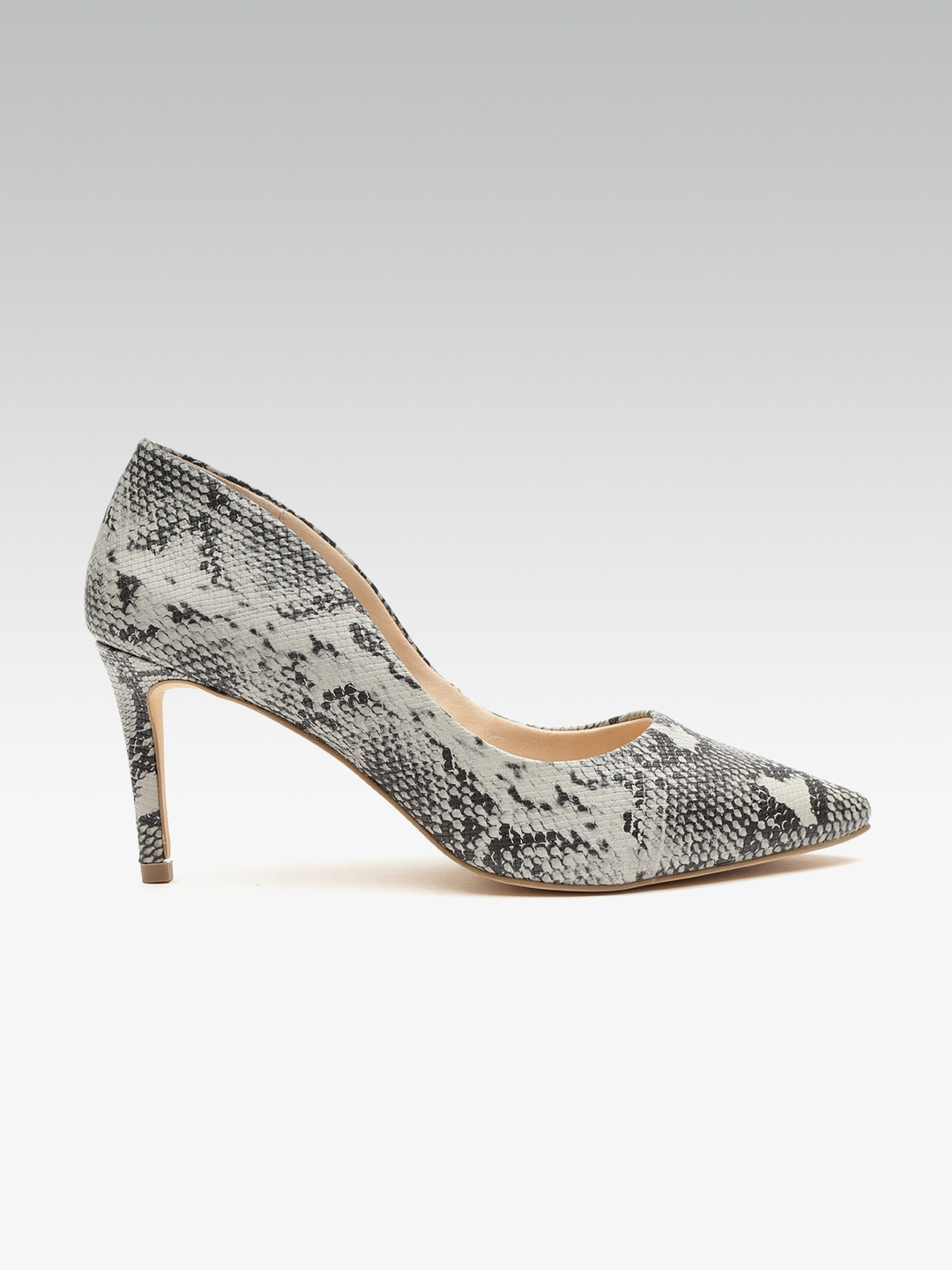 8cc4e863e Buy Carlton London Women Black   Grey Snakeskin Print Pumps - Heels ...