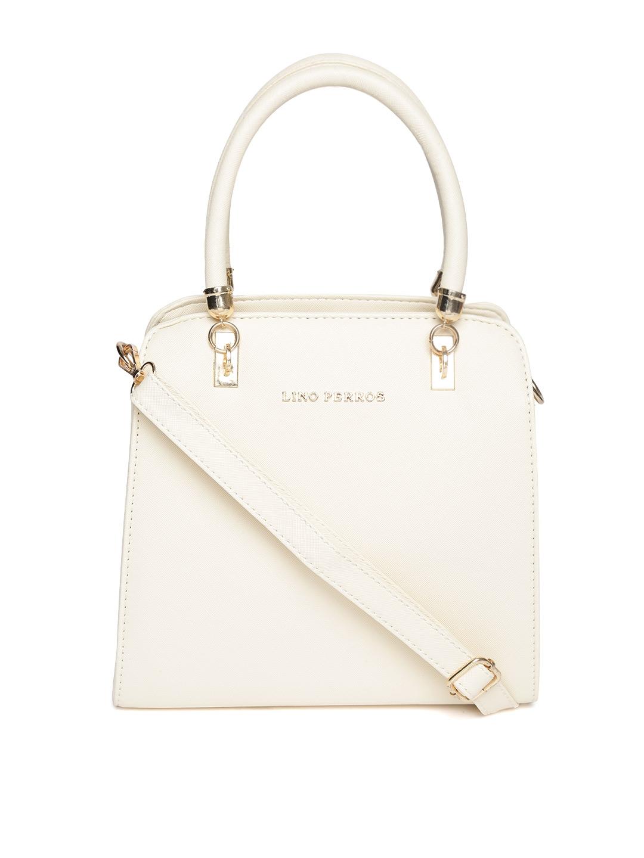 aaa21b40806 Buy Lino Perros Beige Solid Handheld Bag With Detachable Sling Strap ...