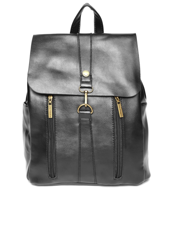 97bcf1467 Buy Lino Perros Women Black Solid Backpack - Backpacks for Women ...