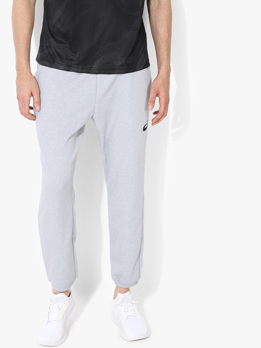 f938d7aba4d5 Buy ASICS Men Grey Solid Cropped Joggers - Track Pants for Men ...