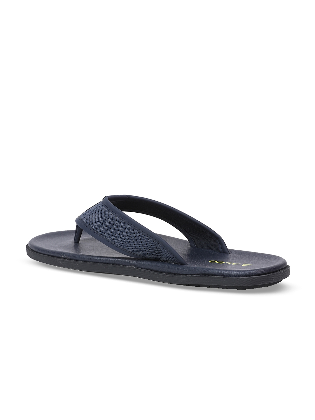 ecb432146a1 Buy ALDO Men Navy Blue Self Design Thong Flip Flops - Flip Flops for ...