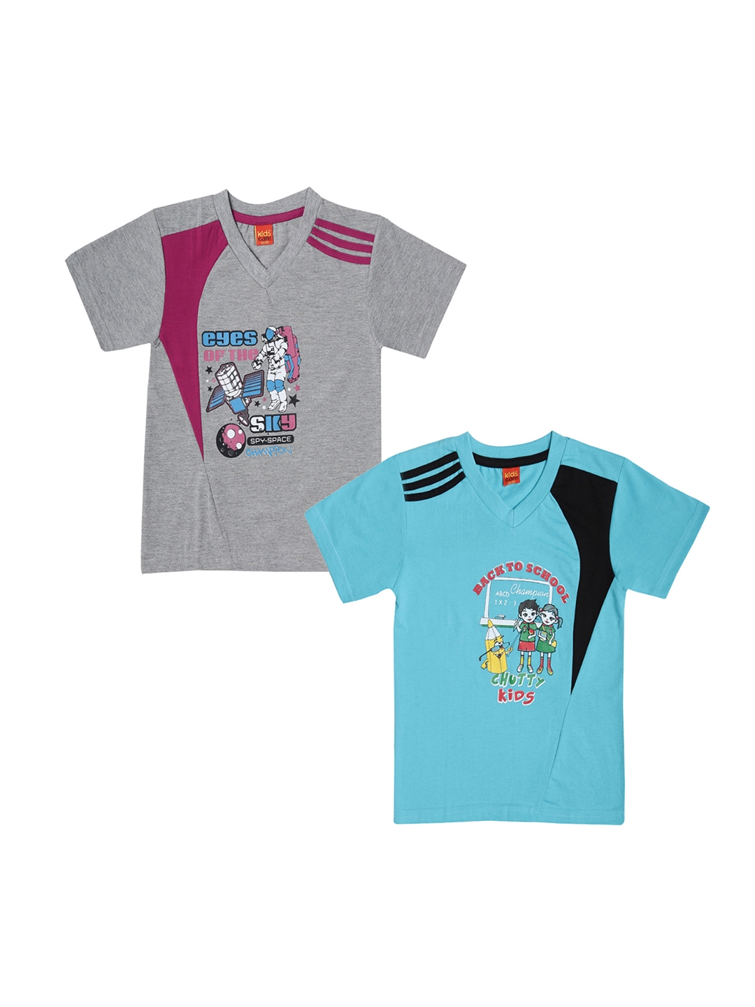 a5e8436d Buy Dollar Champion Kidswear Boys Pack Of Two Printed T Shirts ...