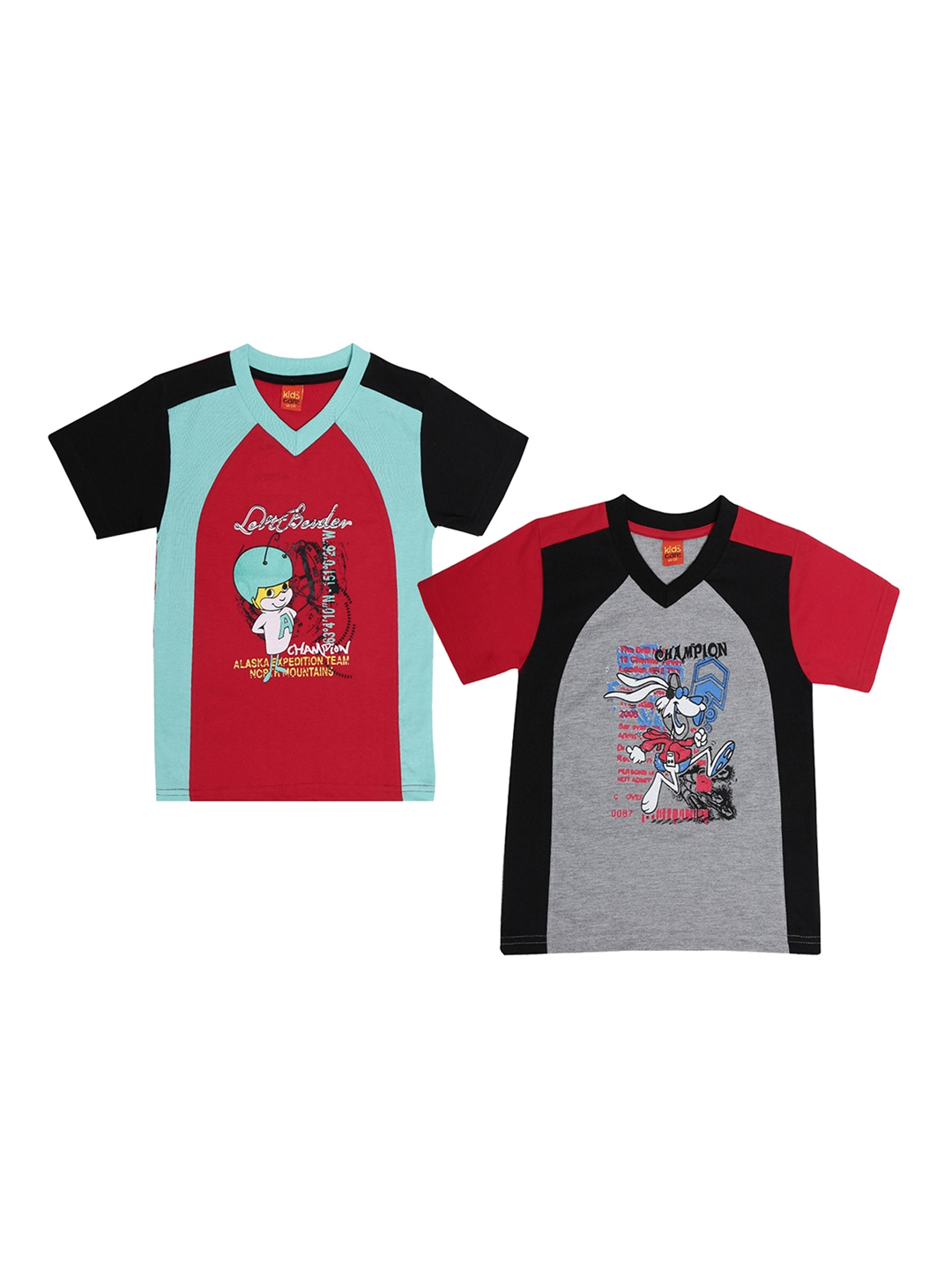 e7be6aad Buy Dollar Champion Kidswear Boys Pack Of 2 Round Neck T Shirt ...