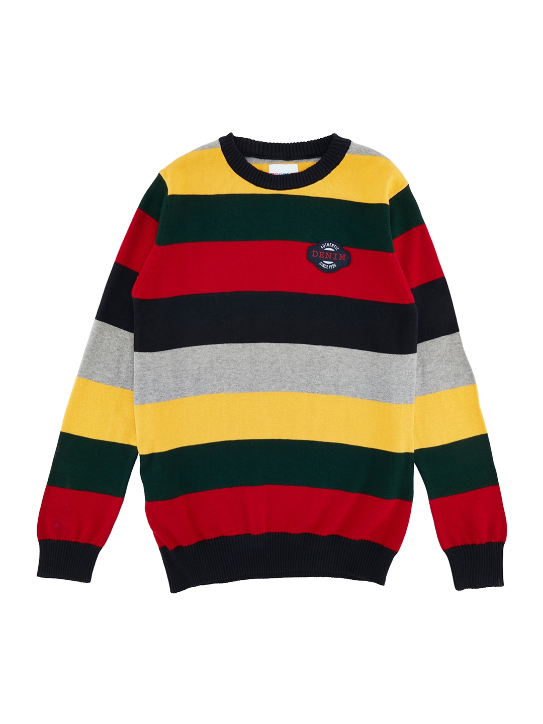 c30b5eed615 Buy POPPERS By Pantaloons Boys Multicoloured Striped Sweater ...