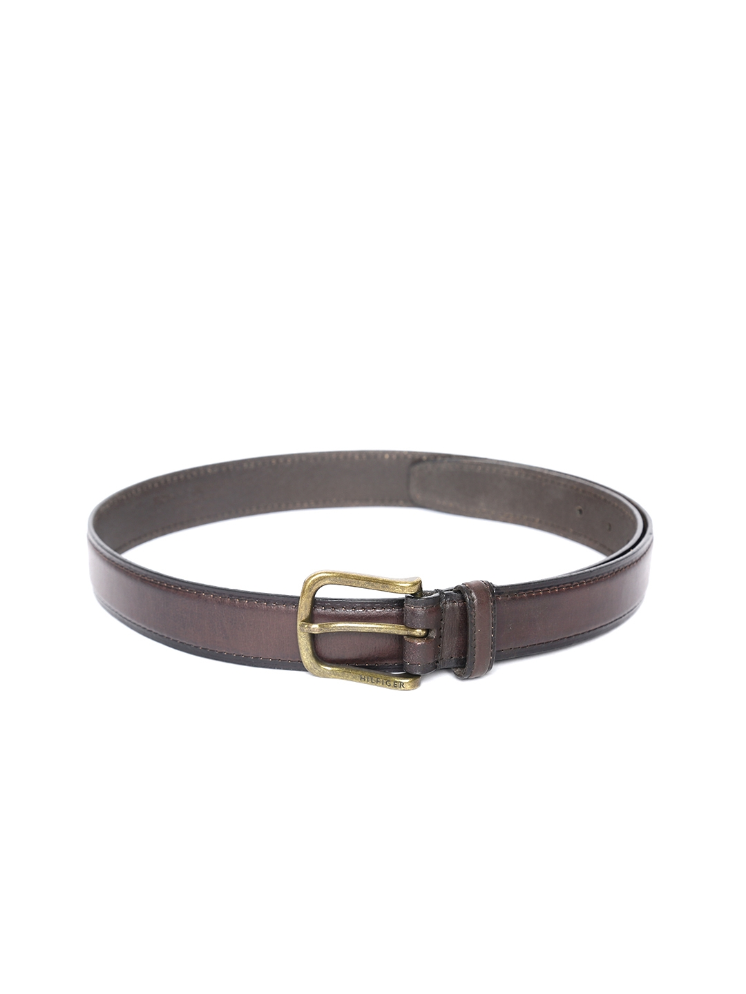Tommy Hilfiger Men Brown Solid Leather Belt