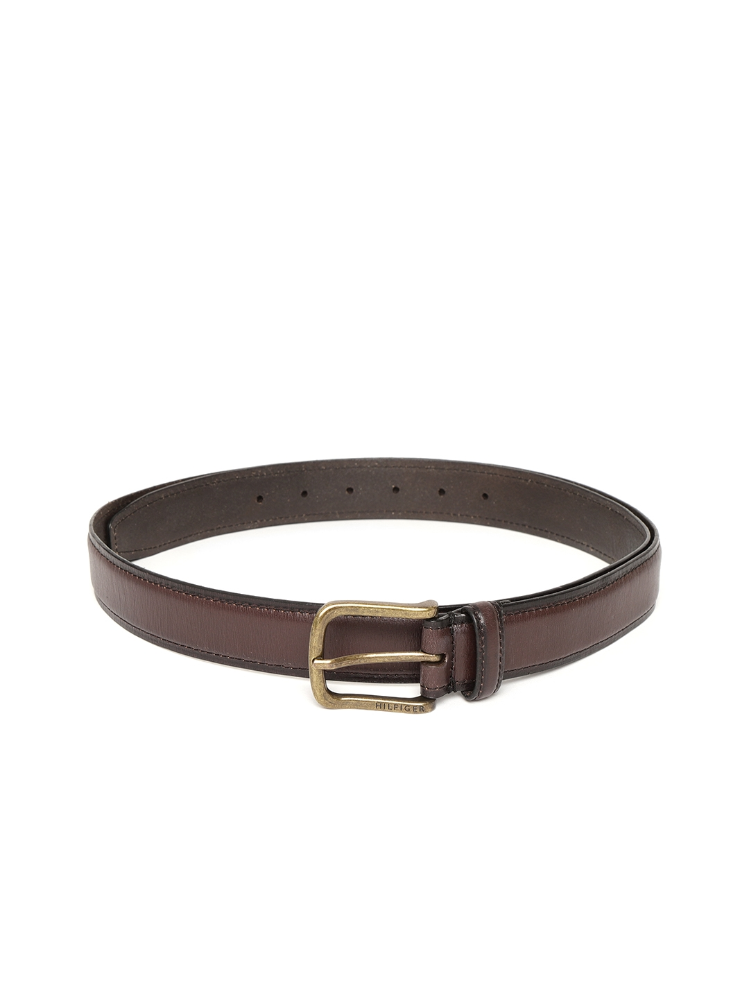 Tommy Hilfiger Men Coffee Brown Formal Leather Belt
