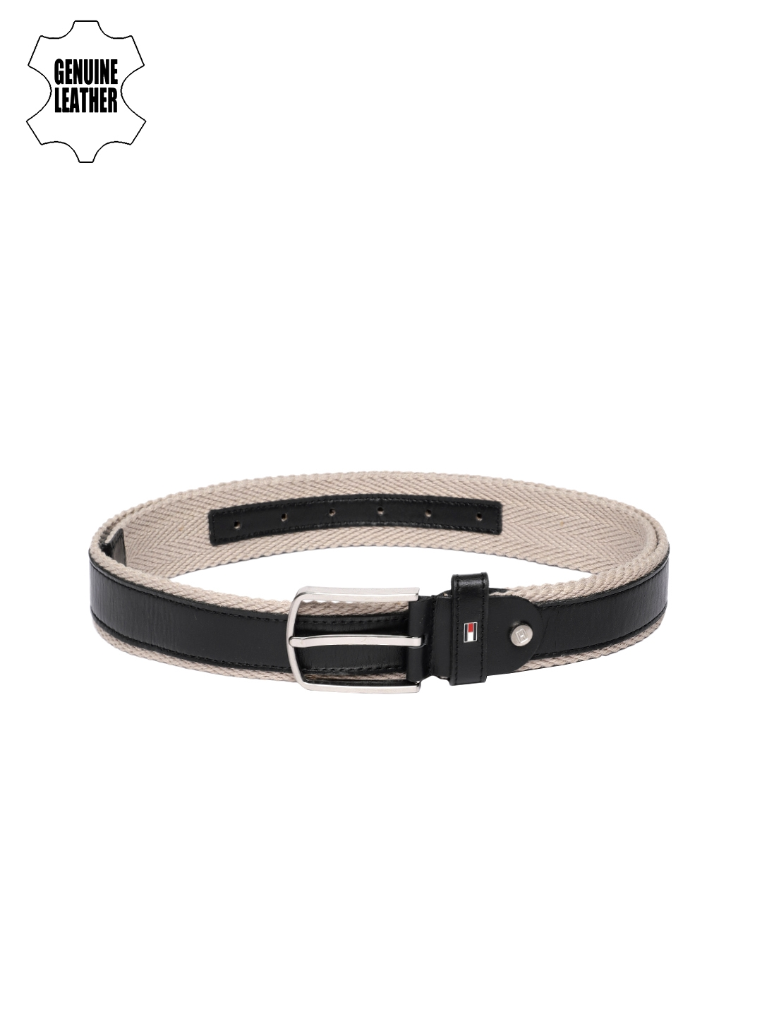 Tommy Hilfiger Men Black Solid Leather Belt