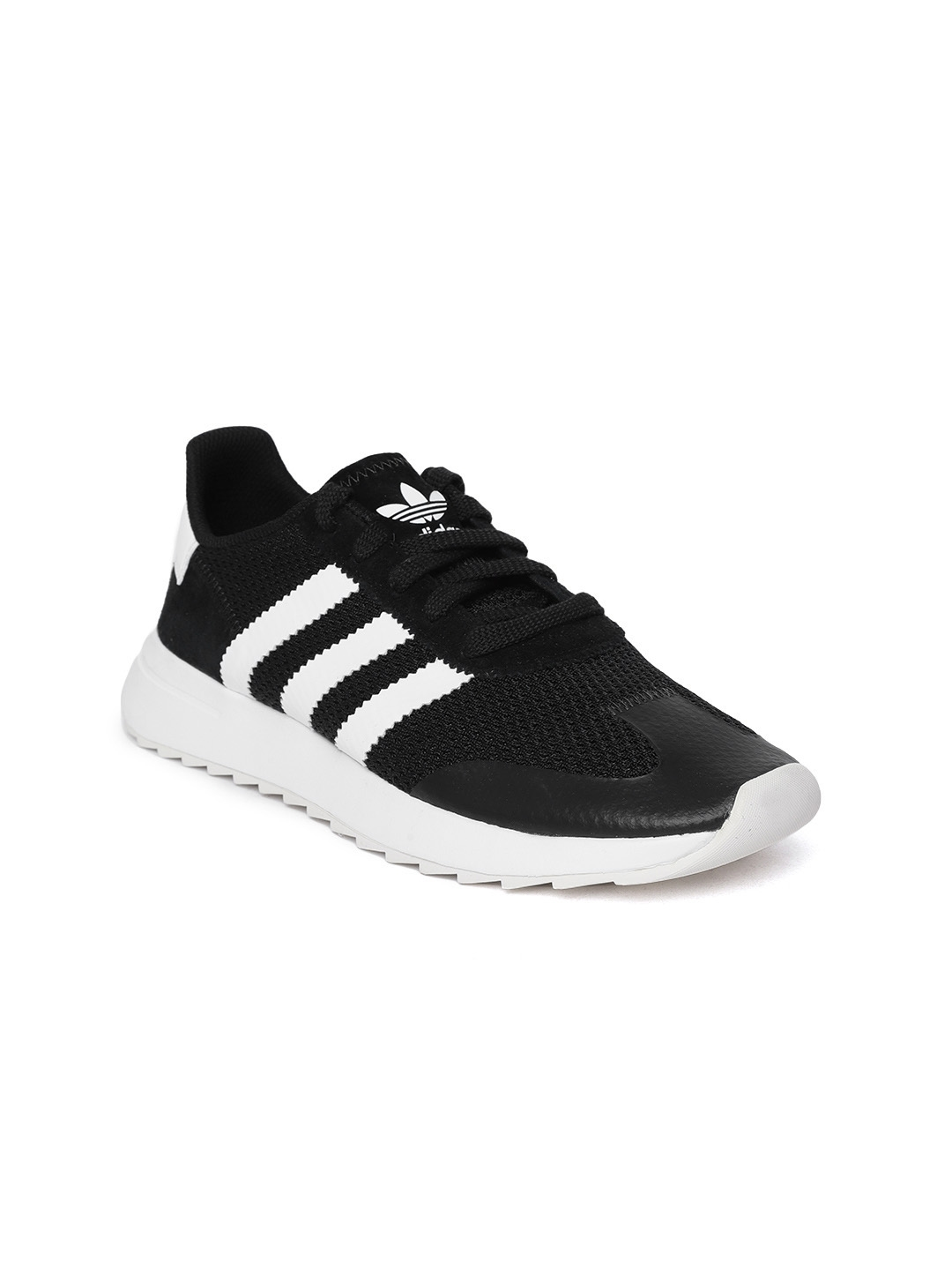 21d0eba809c Buy ADIDAS Originals Women Black Woven Design Flashrunner Sneakers ...