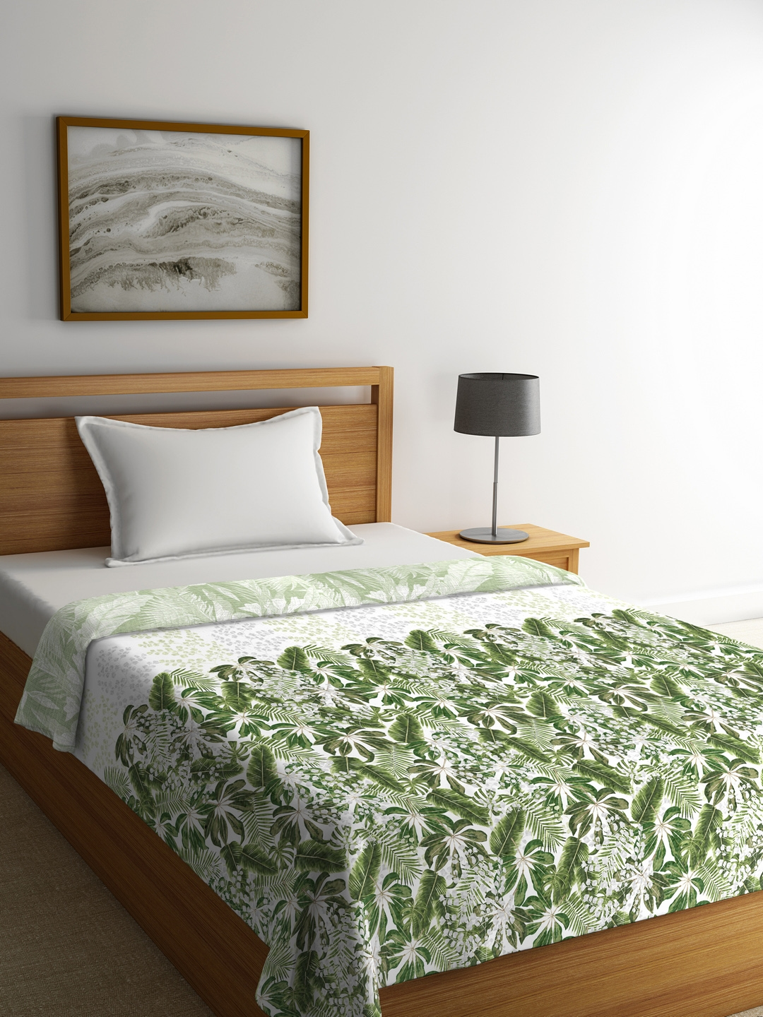 Buy Portico New York Off White Green Floral Ac Room 120 Gsm Single Bed Comforter Blankets Quilts And Dohars For Unisex 7780935 Myntra