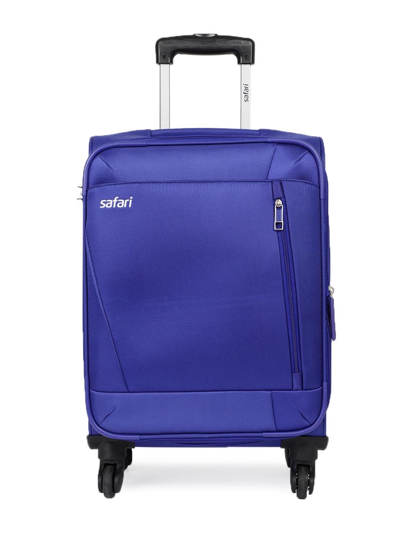 Safari Unisex Blue Savage 4 Wheel Cabin Soft Luggage Trolley