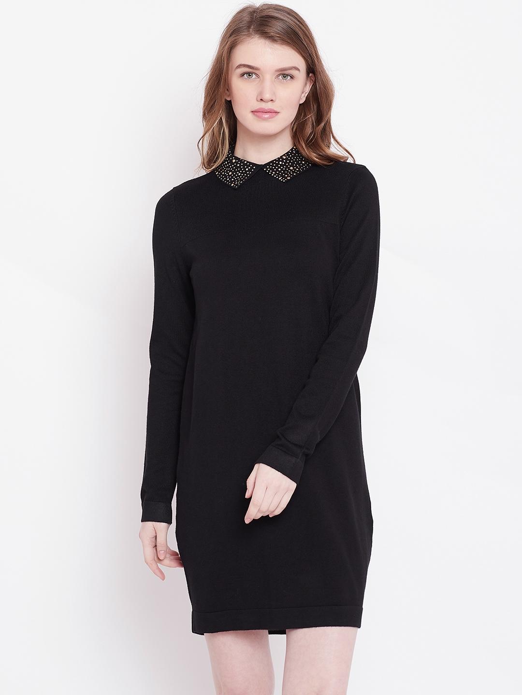 387e724794c Buy OVS Women Black Solid Sweater Dress - Dresses for Women 7798927 ...