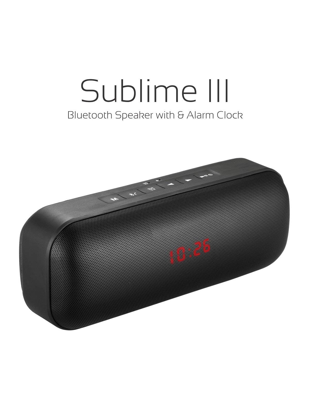Portronics Black Sublime III Portable Bluetooth Stereo Speaker POR622
