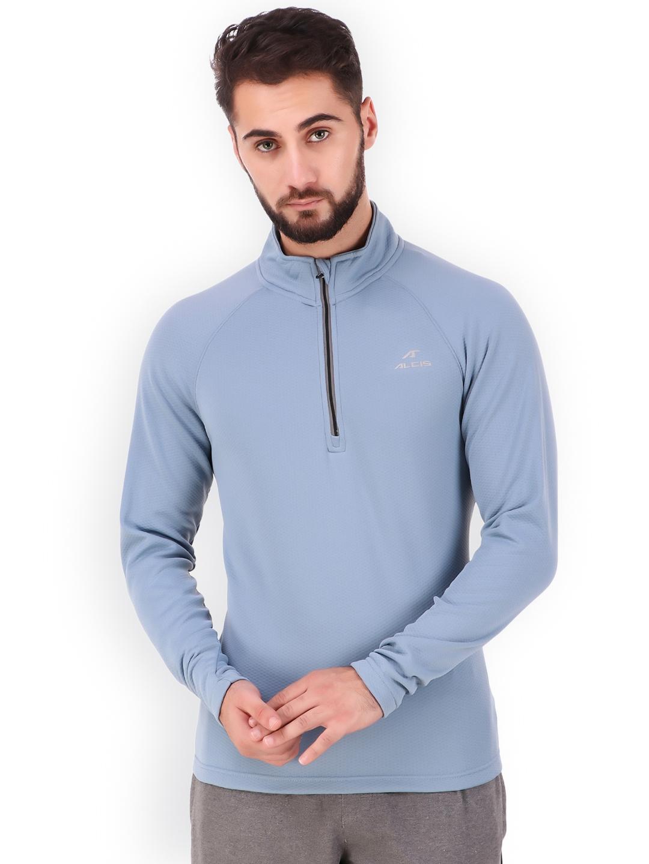 Alcis Men Blue Solid Sweatshirt