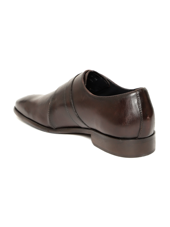 228b3c106ff95c Buy Park Avenue Men Coffee Brown Leather Formal Monks - Formal Shoes ...