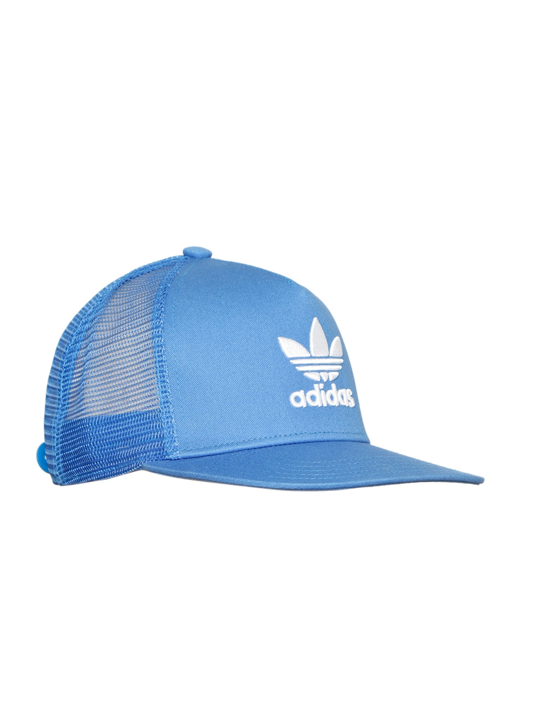 a376fbced65 ADIDAS Originals Unisex Blue Trefoil Trucker Embroidered Snapback Cap