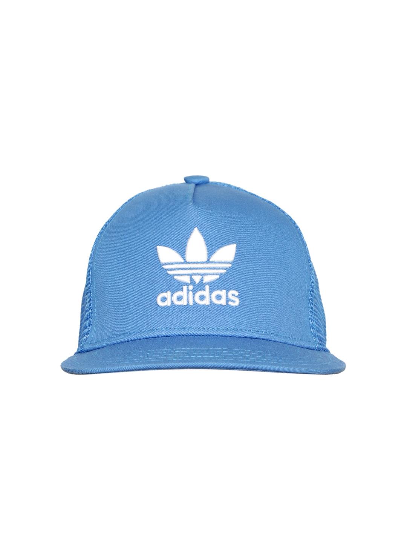 Buy Adidas Originals Unisex Blue Trefoil Trucker Embroidered