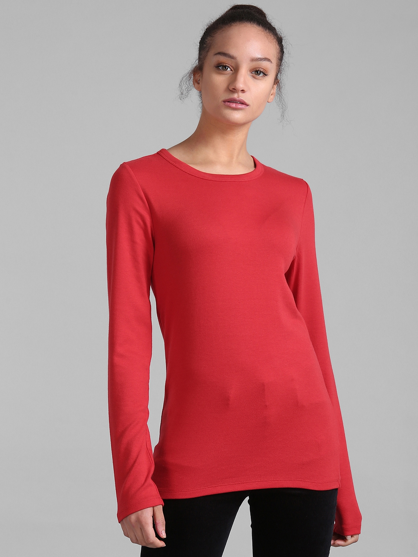c17bbbba Buy GAP Women's Modern Long Sleeve Crewneck T Shirt - Tshirts for ...