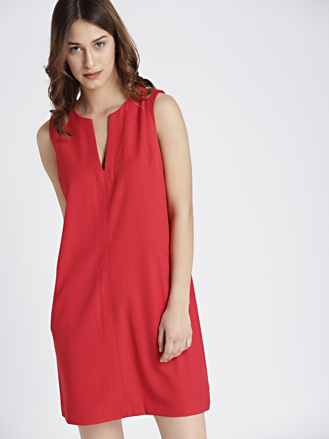 f72014dc9ed533 Buy GAP Women Red Solid A Line Dress - Dresses for Women 7823197 ...
