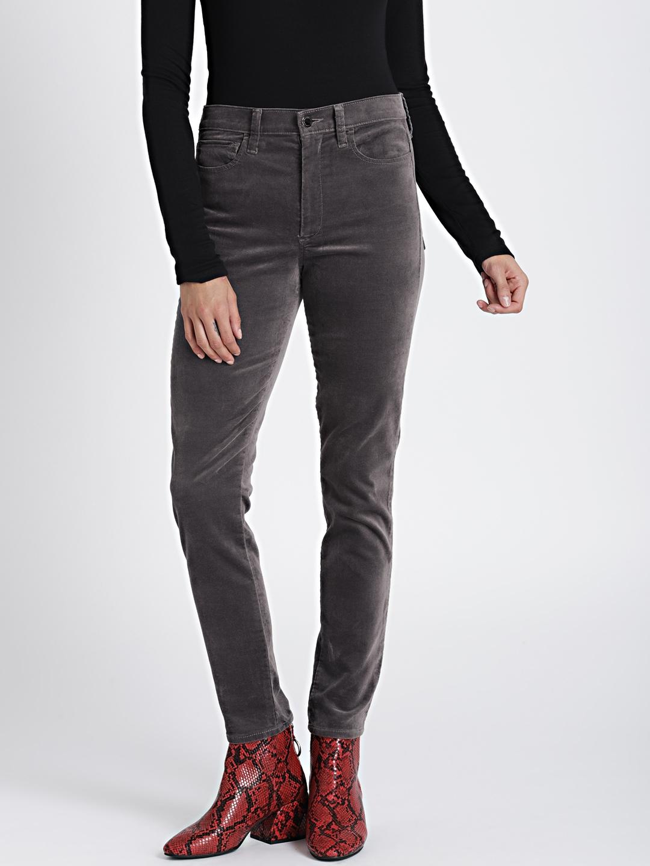 56e18361ced Buy GAP Women Grey High Rise True Skinny Ankle Jeans In Velvet ...