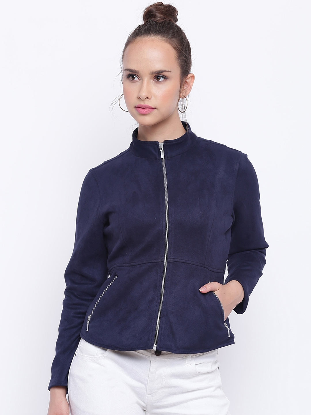 a3187b46d Buy Texco Women Navy Blue Open Front Insulator Jacket - Jackets for ...