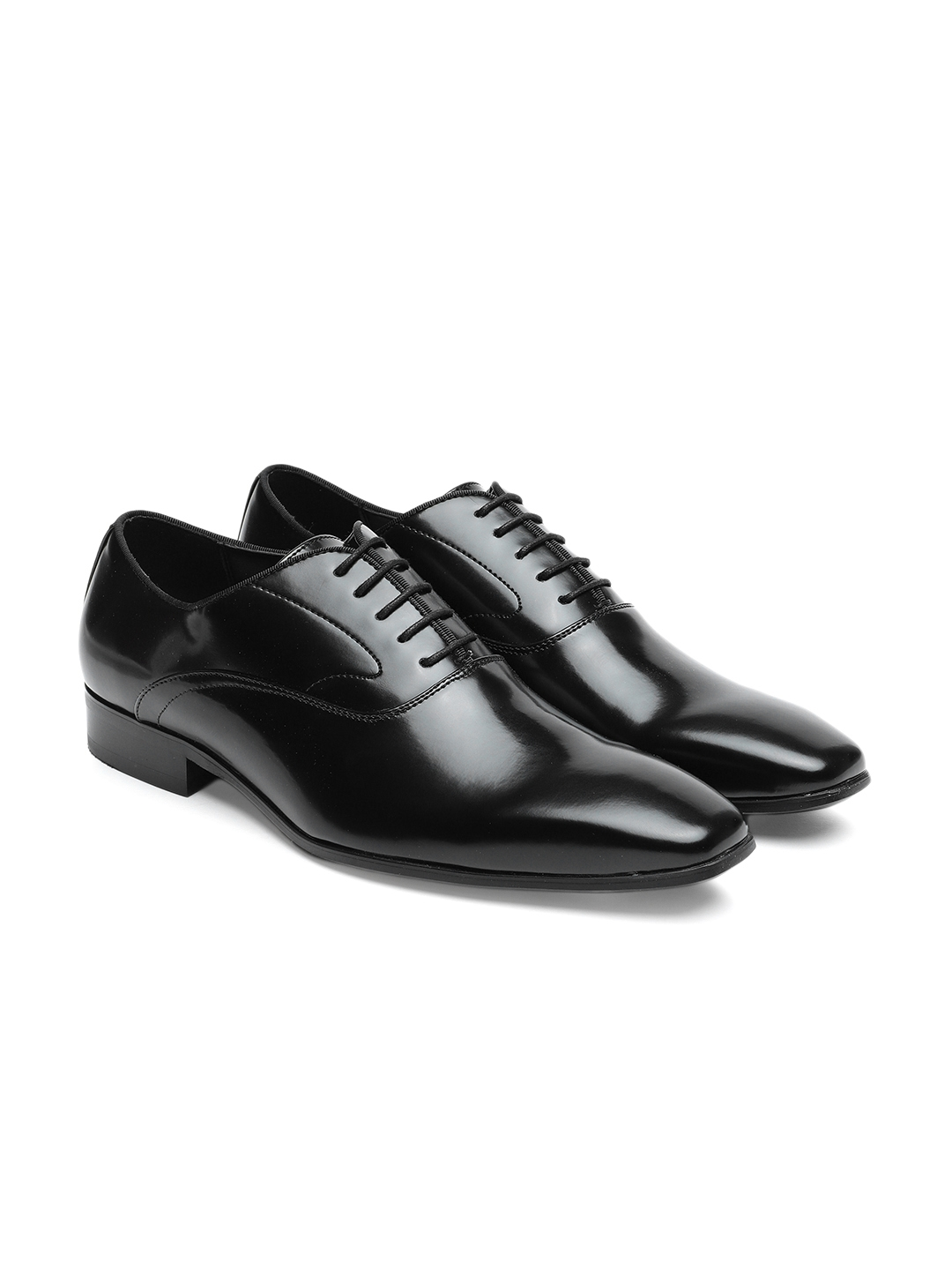 6891bb5adea Steve Madden Men Black MORRY Formal Leather Oxford Shoes