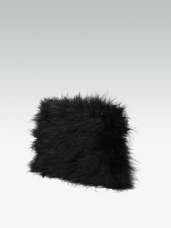 15a98244c4 Buy DOROTHY PERKINS Black Faux Fur Sling Bag - Handbags for Women ...