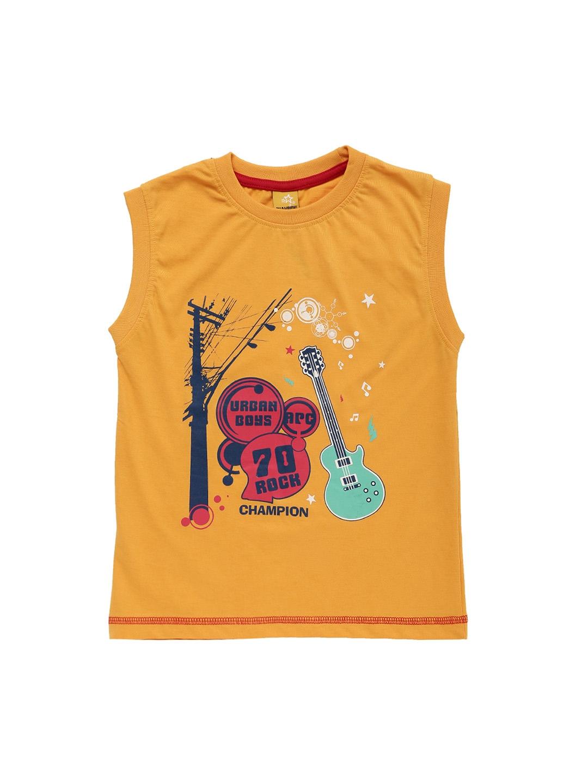 ae325d94 Buy Dollar Champion Kidswear Boys Yellow Printed Round Neck T Shirt ...
