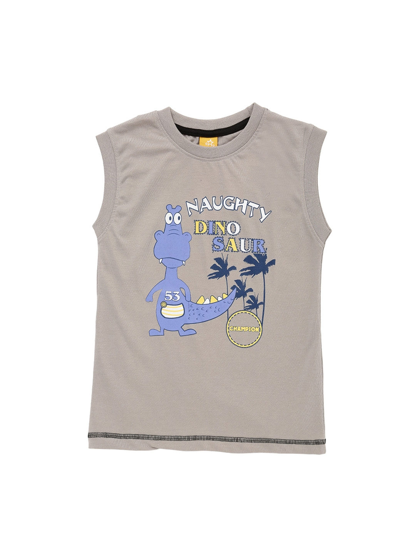 3198697c Buy Dollar Champion Kidswear Boys Pack Of 2 Printed Sleeveless T ...